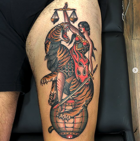 Traditional Tattoo - Old School - Rafa Decraneo - Black Ship Tattoo Barcelona