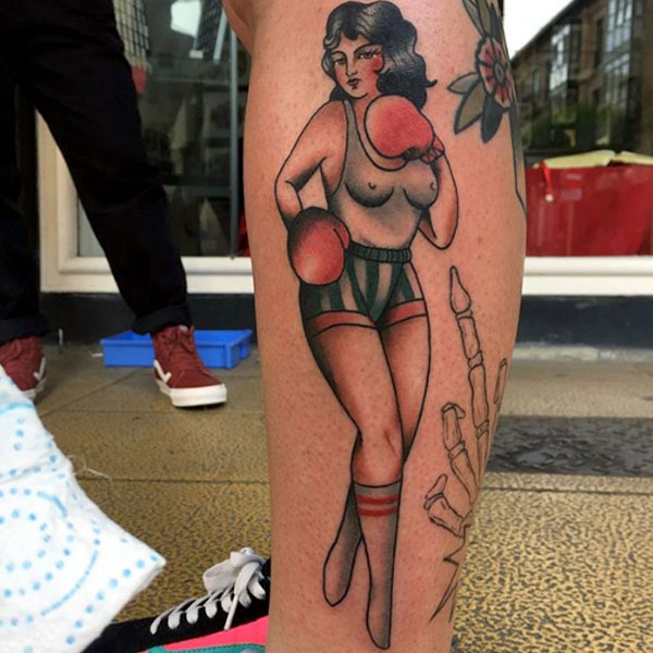 Ana Almagro - Black Ship Tattoo BCN
