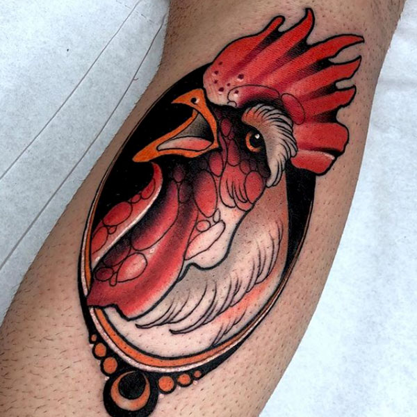 neouveau rooster tattoo